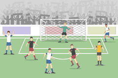 Soccer field with players. Competition. Soccer player on the stadium Stock Images