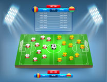 Soccer field and players concept Stock Photo