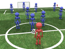 Soccer field with players #5 Royalty Free Stock Photos