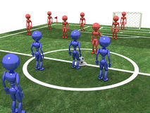 Soccer field with players #7 Stock Photo