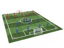Soccer field with players  #1 Royalty Free Stock Images