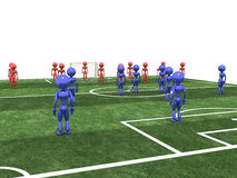Soccer field with players  #6 Stock Photos