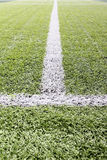 Soccer field's line stock image