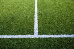 Soccer Field's Lines Royalty Free Stock Photos