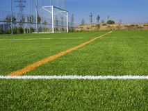 Soccer Field's Lines Stock Photo
