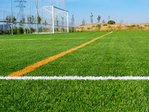 Soccer Field's Lines Royalty Free Stock Images