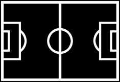 Soccer Field Shape. To Use in Every Way Keep Out the Black and Enjoy It Stock Photography