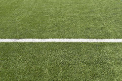 Soccer field with single line copy-space Royalty Free Stock Photo
