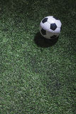 Soccer field with soccer ball Royalty Free Stock Photos