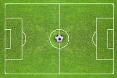 Soccer field with a soccer ball 1 Stock Photos
