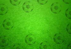 Soccer field with soccer ball copy space background Stock Images