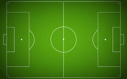 Soccer field or soccer field top view Royalty Free Stock Images