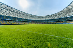 Free Soccer Field Stadium And Stadium Seats Stock Photography - 93403662