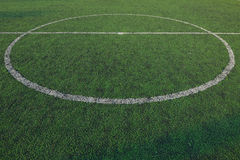 Soccer field stadium on the green grass, sport game Royalty Free Stock Image