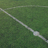 Soccer field stadium on the green grass, sport game b Royalty Free Stock Photography