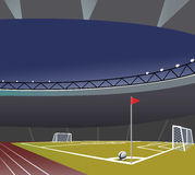 Soccer field and stadium  vector illustration. Royalty Free Stock Photography