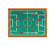 Soccer field and strategy vector illustration