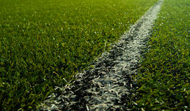 Soccer field. On a sunny day Royalty Free Stock Images