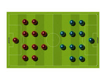 Soccer Field with the tactical scheme. Stock Photo