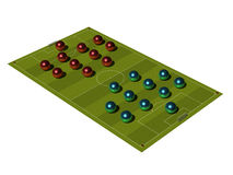Soccer Field with the tactical scheme. Royalty Free Stock Images