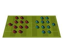 Soccer Field with the tactical scheme. Royalty Free Stock Photography