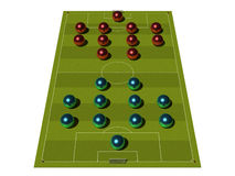 Soccer Field with the tactical scheme. Stock Images
