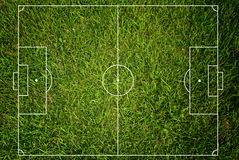 Soccer field texture with grass. Royalty Free Stock Photo