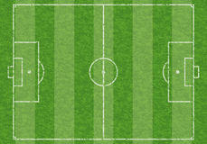 Soccer Field. Textured Soccer Field with Marking, vector illustration Stock Photos