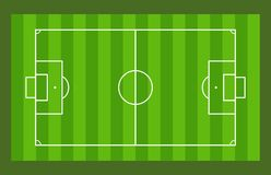 Soccer Field. Top view of soccer field Stock Images