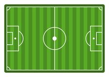 Soccer Field. Top View Empty Football Stadium. Soccer Field. Top View Empty Vector Football Stadium Royalty Free Illustration
