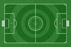 Soccer field top view. Stock Photos