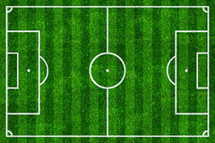 Soccer field top view Stock Image