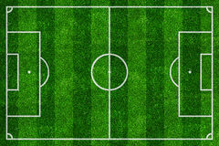 Soccer field top view Stock Photo