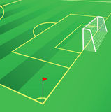 Soccer field vector illustration. Stock Photos