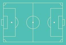 Soccer field vector illustration. Stock Image