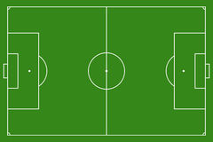Soccer field, vector illustration. Football field with lines and areas. Marking the football field. soccer field size regulations.  105 : 68 m Stock Photos