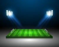 Soccer field - Vector illustration Royalty Free Stock Photo