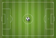 Soccer field vector illustration. For design work Royalty Free Stock Photo