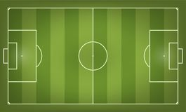 Soccer field vector illustration. Top view stock illustration