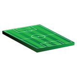 Soccer field vector illustration on a white. Background Stock Photos