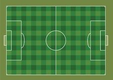 Soccer field. View from above, vector Stock Images