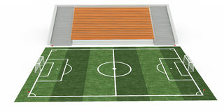 Soccer field #2 Royalty Free Stock Photo
