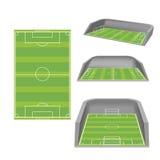 Soccer Field White Isolate Stadium Vector Stock Image