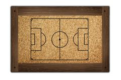 Soccer field on wooden frame Stock Photography