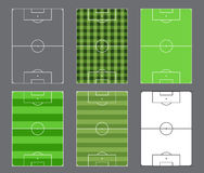 Soccer fields design Stock Image