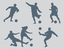 Soccer Figures Vector 2. Six soccer figures created in Adobe Illustrator.  These silhouettes are very detailed.  You will not be disappointed with the quality Stock Images