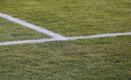 Soccer filed marks Royalty Free Stock Image