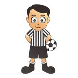 Soccer fine referee white cartoon Stock Photo