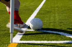 Soccer flag Stock Images