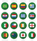 Soccer flag icons Stock Photo
